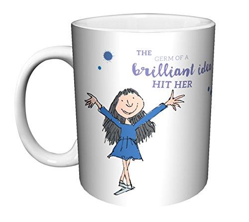 Roald Dahl MATILDA QUOTE Brilliant Classic Literature Book Ceramic Gift Coffee Tea Cocoa Mug (11 OZ C-HANDLE CERAMIC MUG)