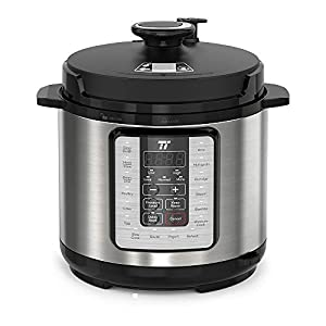TaoTronics TT-EE006 Electric Pressure Cookbook 6QT, 10-in-1 Multi-Use, 16 Programs, Slow, Rice Cooker, Steamer, Sauté… 9