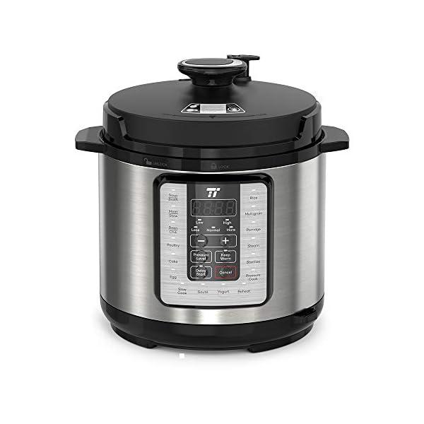 TaoTronics TT-EE006 Electric Pressure Cookbook 6QT, 10-in-1 Multi-Use, 16 Programs, Slow, Rice Cooker, Steamer, Sauté… 1