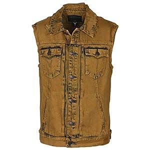 True Religion Men's Dylan Distressed Renegade Denim Vest