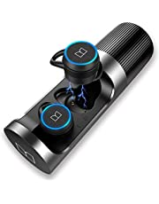 Monster Wireless Earbuds, Bluetooth 5.0 in-Ear Headphones with Charging Case, Stereo Earphones Deep Bass Sound, IPX5 Waterproof, Built-in Mic, Clear Call, Secure Fit for Sports