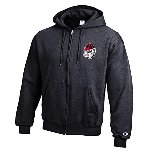 Elite Fan Shop Georgia Bulldogs Zip Up Hooded Sweatshirt Captain Black - ()