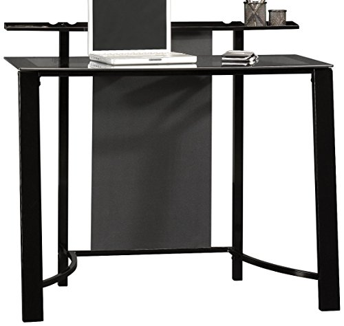 Sauder Mirage Desk, Black Finish
