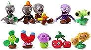 Magic Plants Vs Zombies A Medium Set Include 10 Plush Toys With Sucker, Children'S G