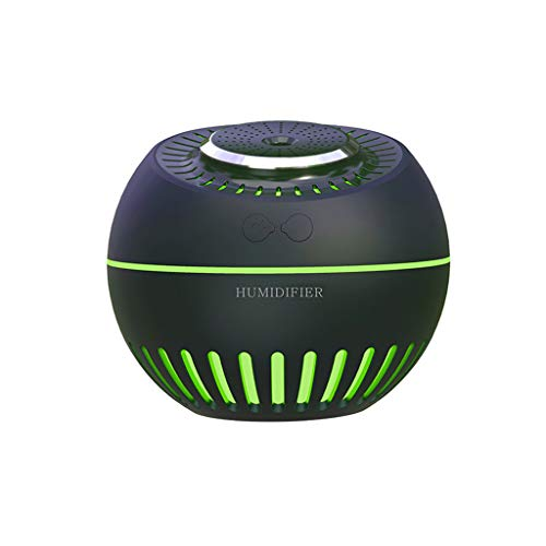 JonerytimeUSB Air Humidifier Silent Ultrasonic Diffuser Changing Cute LED Night Light (Black)