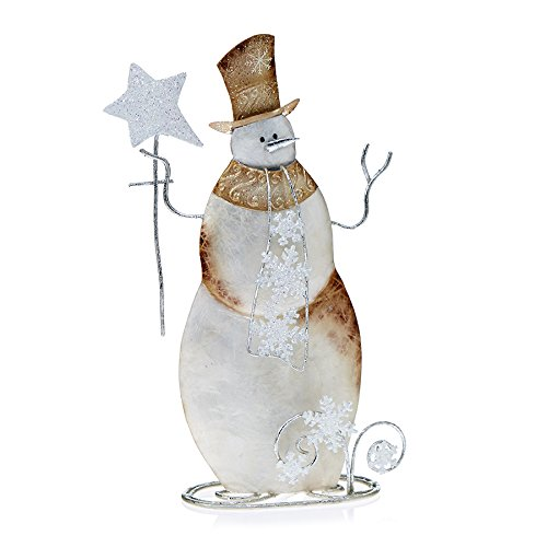 Deco Flair Mixed Metal Snowman