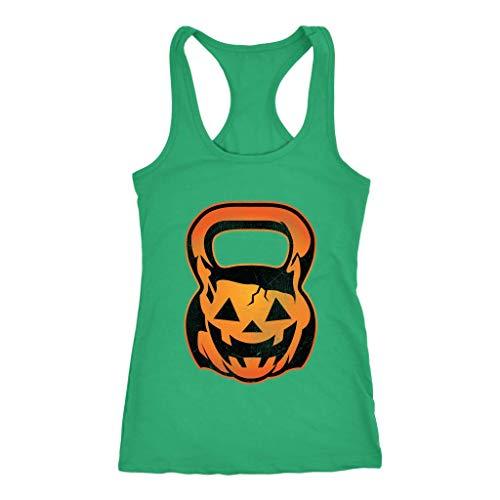 Pumpkin Kettle Bell WOD Crossfit Women's Racerback Tank Top for $<!--$21.99-->