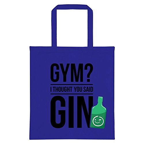 You Thought I Bag Blue Royal Gym Gin Tote Said 16fwx4