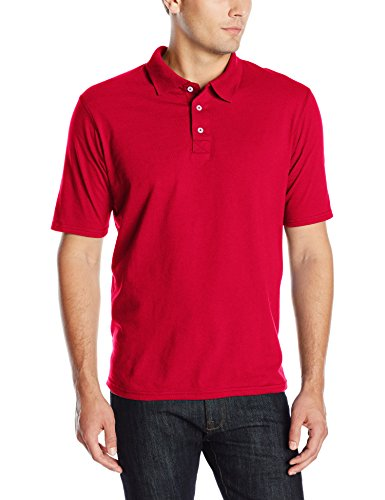 (Hanes Men's X-Temp Performance Polo, Deep Red, 3X-Large)