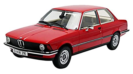 Amazon.com: 1978 BMW 316 (E21) Red Resin Model in 1:18 Scale By ...
