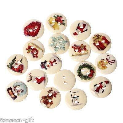 FidgetGear 卸売ギフト混合木製クリスマスボタン2穴フィット縫製スクラップブック15ミリメートル 20000個 20000個  B07S4BS586