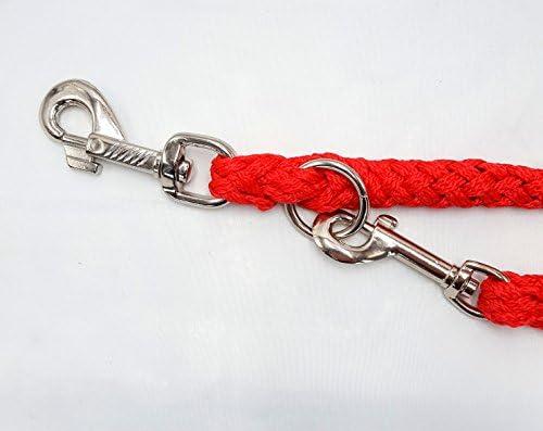 Elropet Premium Hundeleine Doppelleine 2 80m 4fach Verstellbar Rot Umhängeleine Haustier