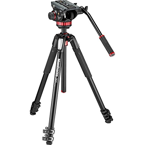 Manfrotto MVK502055XPRO3 Photo Video Hybrid Kit with 502 Series Head, - Monitor Video Manfrotto