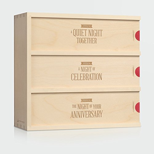 Wine Box Wedding Gift - Three Nights // Gift for the Couple // Anniversary Wine Box // WineforaWedding® by Artificer Wood Works