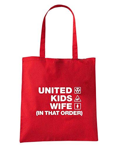 T-Shirtshock - Bolsa para la compra WC1239 sheffield-united-kids-wife-order-tshirt design Rojo
