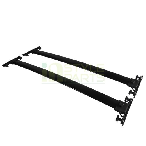 Spec-D Tuning RRB-HLDR08BK Toyota Highlander Black Aluminum Roof Top Rack Cross Bars