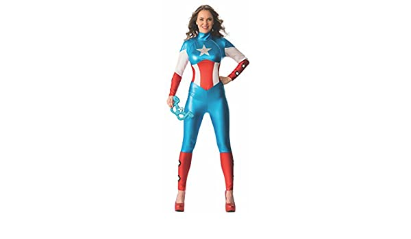 Rubies s Oficial Ladies Marvel Miss sueño Americano Capitán ...