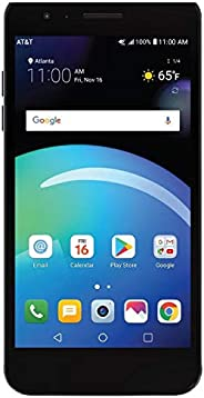 LG Phoenix 4 AT&T Prepaid Smartphone with 16GB, 4G LTE, Android 7.1 OS, 8MP + 5MP Cameras - B