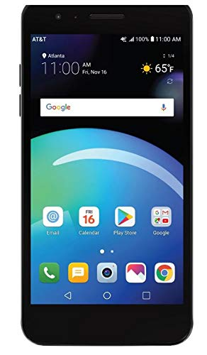 ATT LG Phoenix 4 with 16GB Memory Prepaid Cell Phone - Titan Black