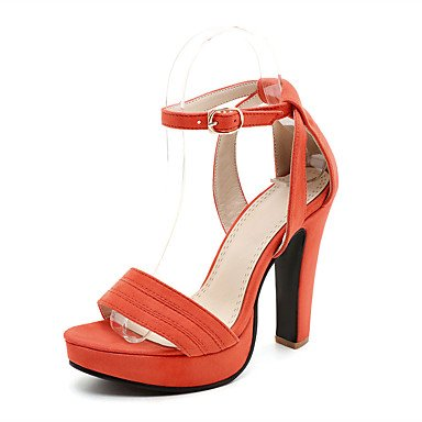 LvYuan Mujer-Tacón Robusto-Otro Zapatos del club-Sandalias-Informal-Semicuero-Negro Rosa Naranja Black