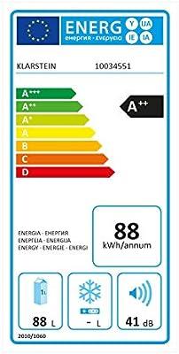 Klarstein Hudson Nevera - 88 litros, eficiencia energética A++, 3 ...