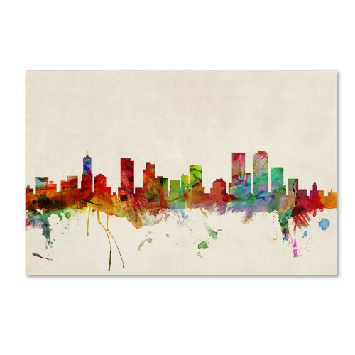 Denver  Colorado By Michael Tompsett  30 By 47 Inch Canvas Wall Art