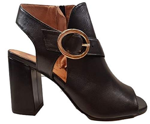 CARMENS Pelle Nera 37 Sandalo Donna TG wgnrxqvAw