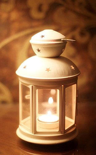Vintage Retro Style Metal Hexagon Lantern Tea Light Candle Holder | ChristmasTablescapeDecor.com