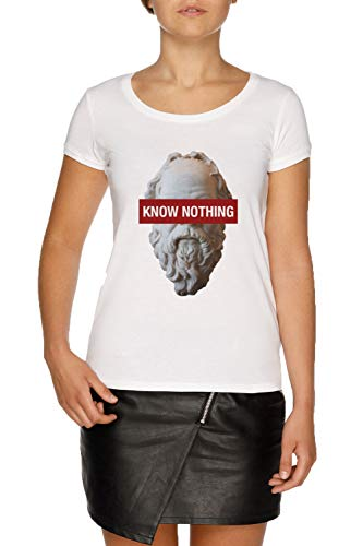 White Philosophy Bianco Donna Socrates Women's Jergley T Know Nothing shirt qg7WUSzw