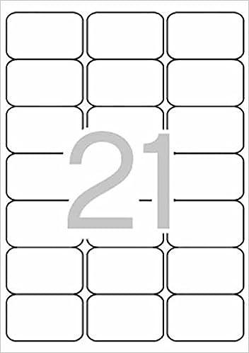 Blister Etiquetas Blancas 25hojas A4 Aptas para Impresora ...