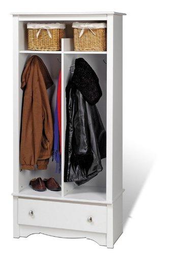 Prepac White Organizer - White Monterey Collection Entry Way Coat Stand Organizer