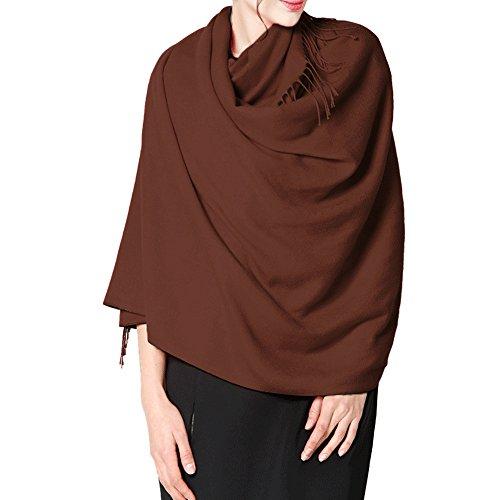 Unisex Homme Cachemire Hiver Automne Châle Châle 65cm femme Écharpe Acrylique 200 marron Laine qO0Ytw