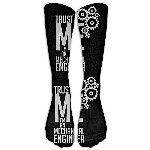 Trust A Mechanical Engineer Casual Unisex Sock Knee Long High Socks Sport Athletic Crew Socks One Size 50cm