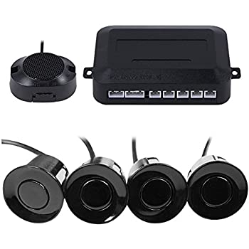 Frostory Car Reverse Backup Parking Sensor Radar System, Buzzer beeps, Detection Distance:30~150CM, Waterproof Sensors (22mm Diameter 2.3M Cable) 4 Packs ...