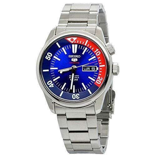 (SEIKO 5 Sports 100M Watch Blue/Red Dial SEIKO 5 Sports 100M Watch Blue/Red Dial SRPB25K)