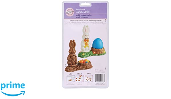 Amazon.com: Wilton Bunny Basket Candy Mold: Candy Making Molds: Kitchen & Dining