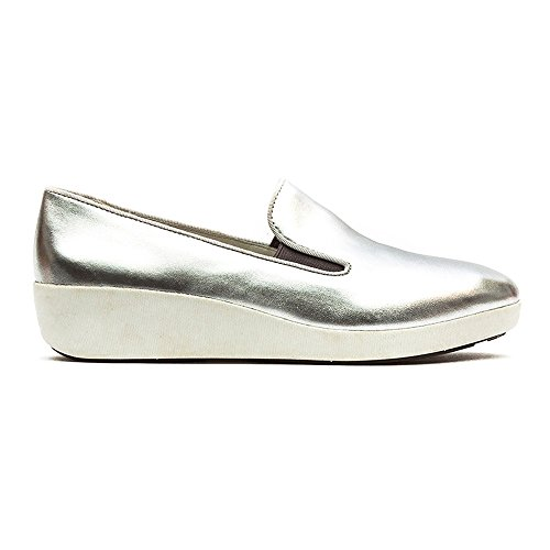 FF2 Por Fitflop Zapatos Skate F-pop Plata UK5.5 Silver