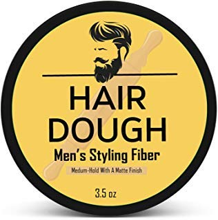Hair Dough Styling Clay For Men - Matte Finish Molding Hair Wax Paste - Strong Hold Without The Shine (Long Hair Wax)