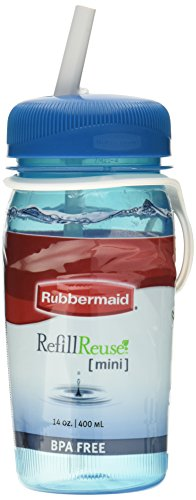 Rubbermaid Refill Reuse Bottle, 14-Ounce, Color May Vary