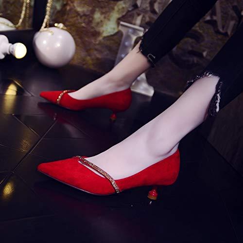 GTVERNH GTVERNH GTVERNH Frauen Schuhe Spitzer Kopf Wasser Bohren Flachem Absatz Schuhe Flachen Mund Einzelne Schuhe cm Cat - Schuhe Damenschuhe Mode Braut Schuhe. 65973b
