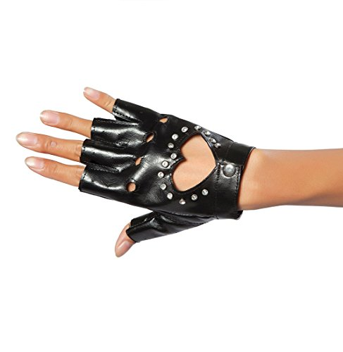 Black Glove with Heart and Stones - Adult (Black Glove With Heart And Stones)