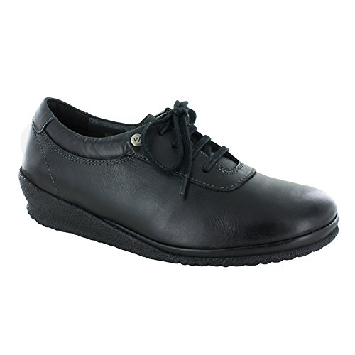 Wolky Dames 7250 Roseville Fashion Sneakers Zwart - Algarve Leer