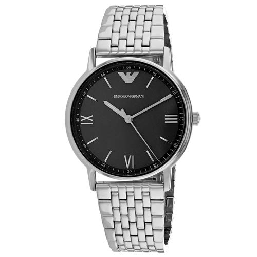 Emporio Armani Men's 'Dress Quartz Stainless Steel Casual Watch, Color:Silver-Toned (Model: AR11068)