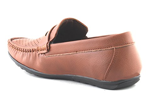 AORFEO Tan Loafer Shoes For MenCasual Men Loafers No Lace LOAFER71_10