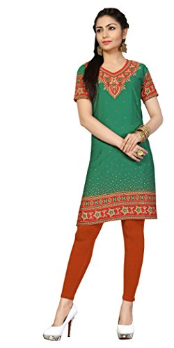 Indian Tunic Top Womens Kurti Printed Blouse India Clothing – Large, L 135