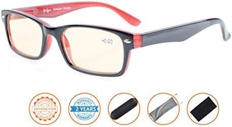 Reduce Eyestrain,Anti Blue Rays,UV Protection Computer Reading Glasses
