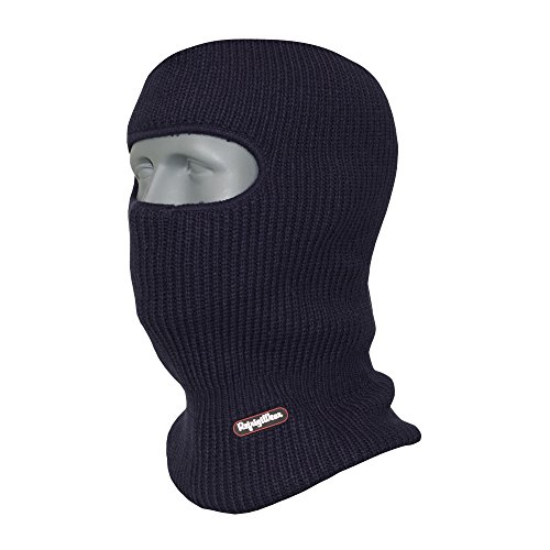 RefrigiWear Double Layer Acrylic Knit Open Hole Balaclava Face Mask, Navy Blue One Size Fits All