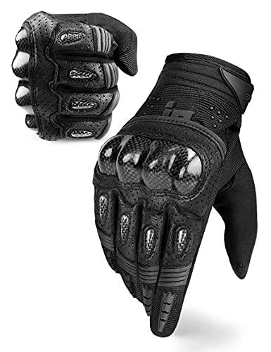 INBIKE Motorrad Handschuhe Herren Damen Motorradhandschuhe Atmungsaktivität Strapazierfähig Hartschalen-Schutz für…