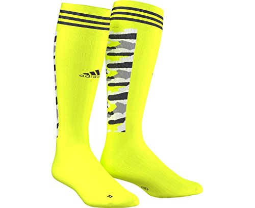 adidas ID Strech Nylon Camo Calf Pattern Hockey Sock - Yellow