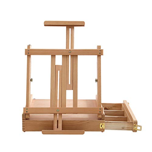 JIANPING Children's Easel Can Be Lifted and Lowered Desktop Drawer Easel Foldable Door for Easy Carrying and Storage Suitable for Outing Use 42x36x12cm Easel (Color : A)